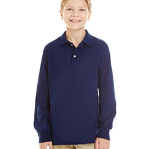 Youth 5.6 oz. SpotShield™ Long-Sleeve Jersey Polo Thumbnail