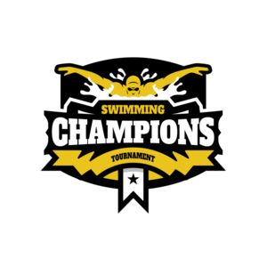 Champions Swimming Tournament logo template Thumbnail