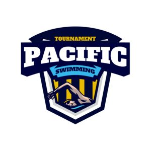 Pacific Swimming Tournament logo template Thumbnail